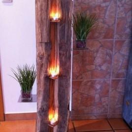 Dekoratívny dubový stojan